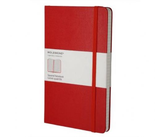 Red Large Squared Notebook